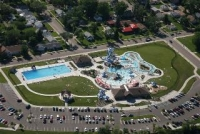 Aerial of the Aquatic Center