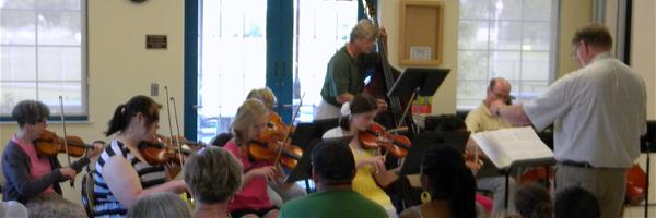 String Ensemble Performance in the Visitor's Center at Storybook Land