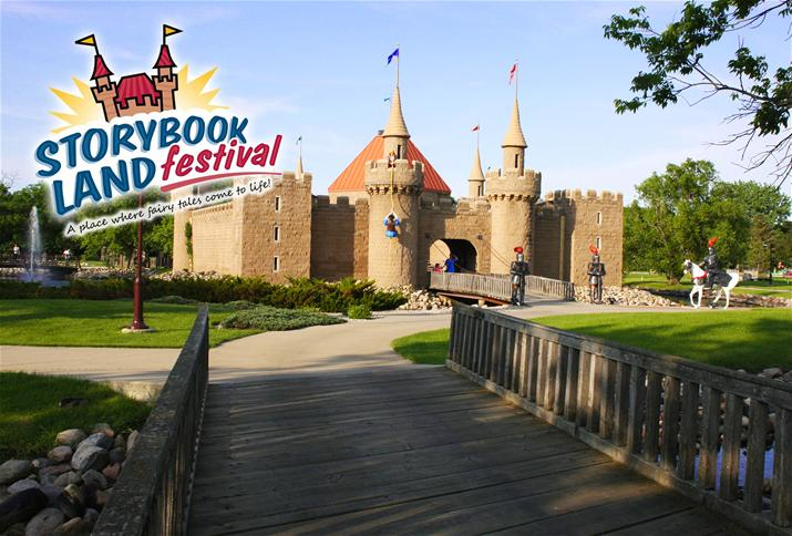 Storybook Land Castle with Storybook Land Festival Logo