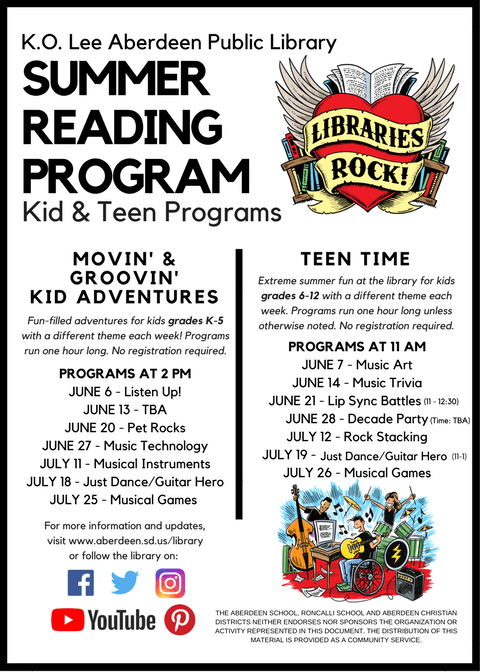 Summer Reading Program BACK