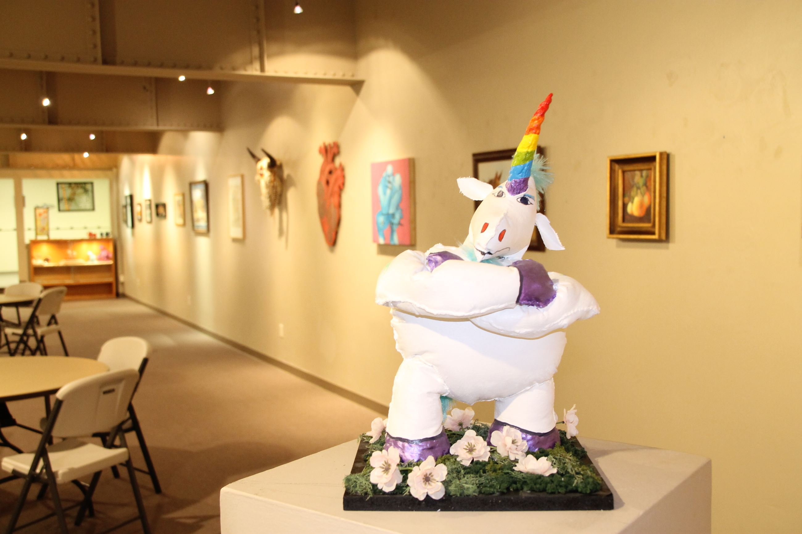 Wildy the Unicorn Mixed Media Soft Sculpture by Tom Schinderling