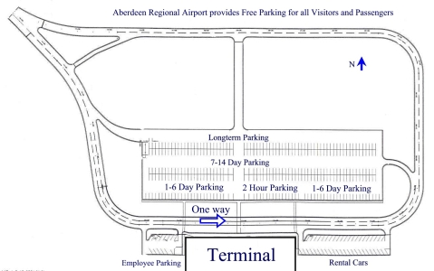 Aberdeen Regional Airport Terminal and Parking Map